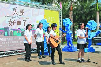 以校名英文縮寫「HLGS」組團的花蓮女中學生,實力獲得音樂人肯定,也將在原聲音樂節活動中獻聲。 / 記者陳俊智/攝影