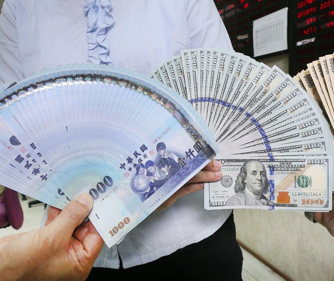 新台幣午盤貶值0.2分 暫收29.544元
