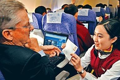 一年人民幣84億空中WIFI商機 陸航班為手機解禁