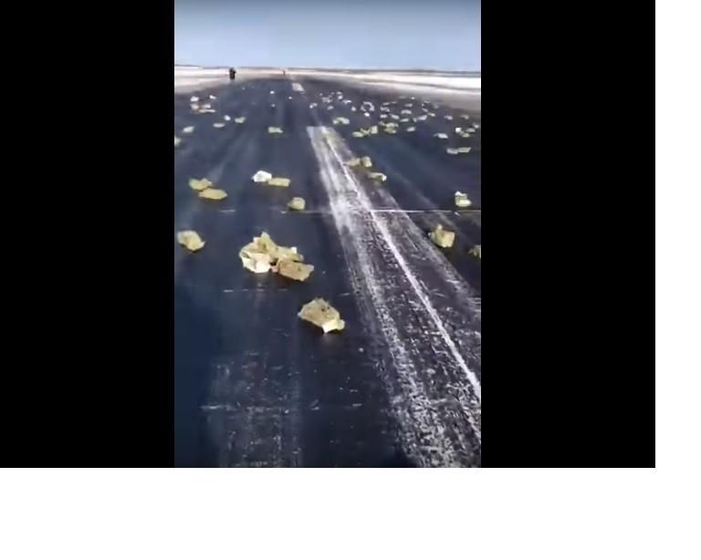 俄羅斯貨機艙門沒關好 邊飛邊灑百億「黃金雨」
