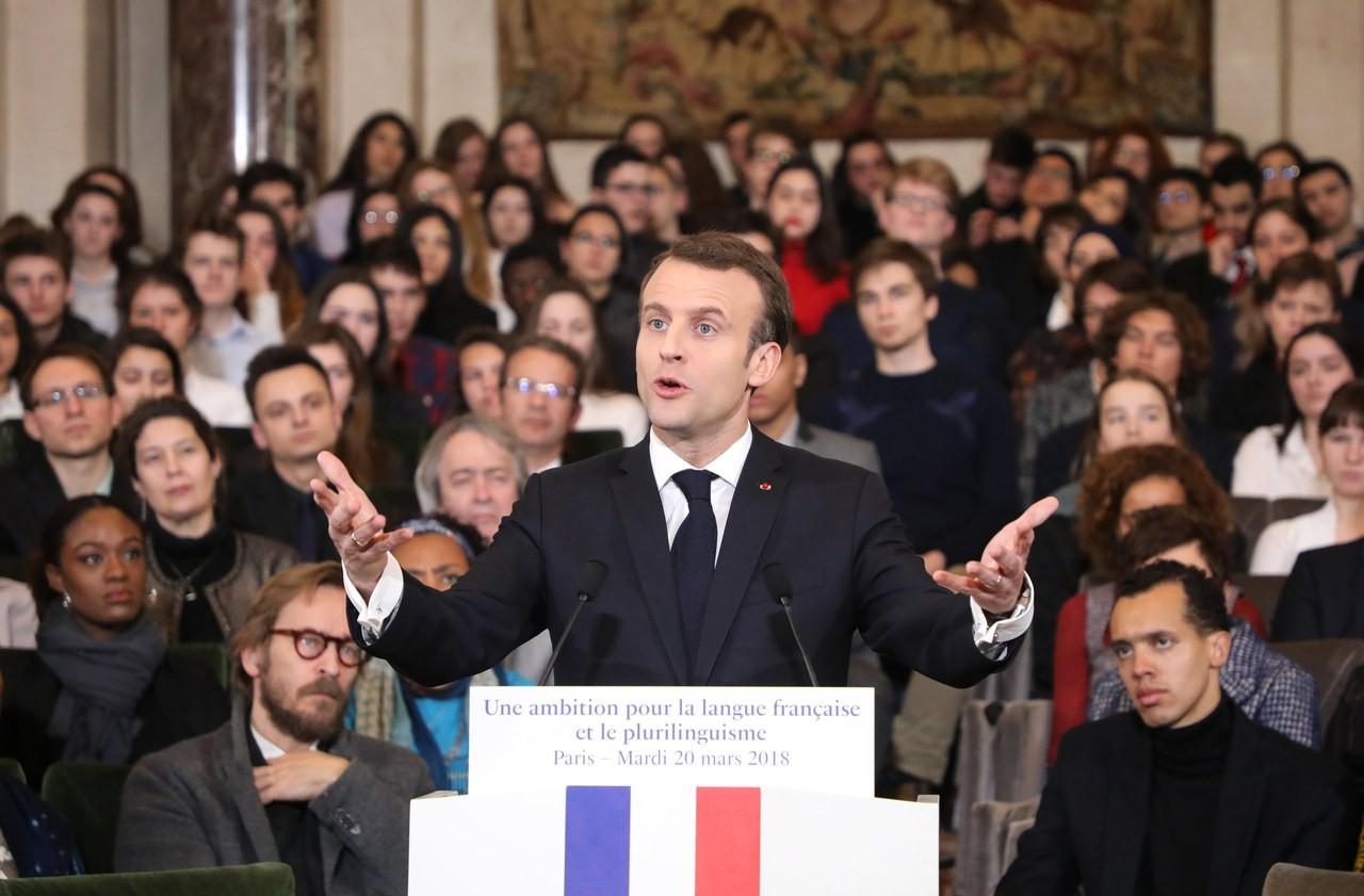 避免英語支配歐盟 馬克宏將花數億歐元推廣法語