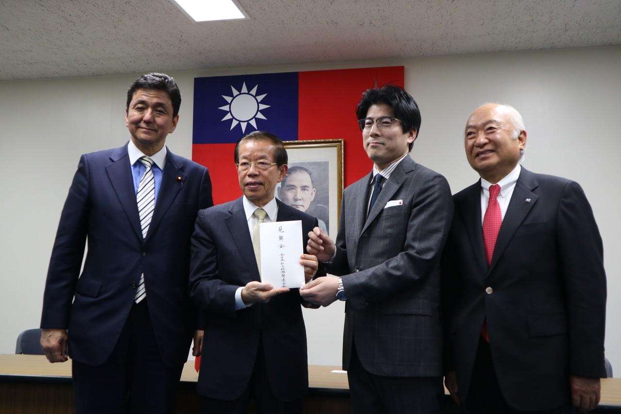 花蓮強震 駐日代表處今再接受百萬日圓捐款