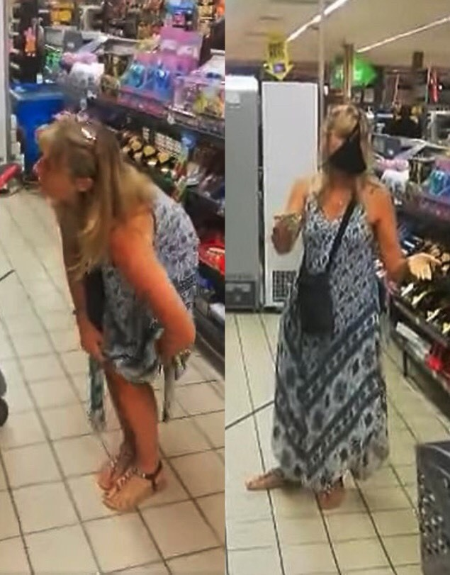 [新聞] 傻眼!女子不爽在超市被勸戴口罩 直接脫