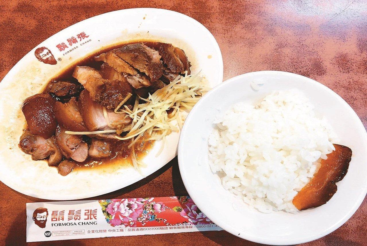 鬍鬚張魯肉飯因為白米飯煮得好,深得陳泰銘之心。記者陳立凱/攝影
