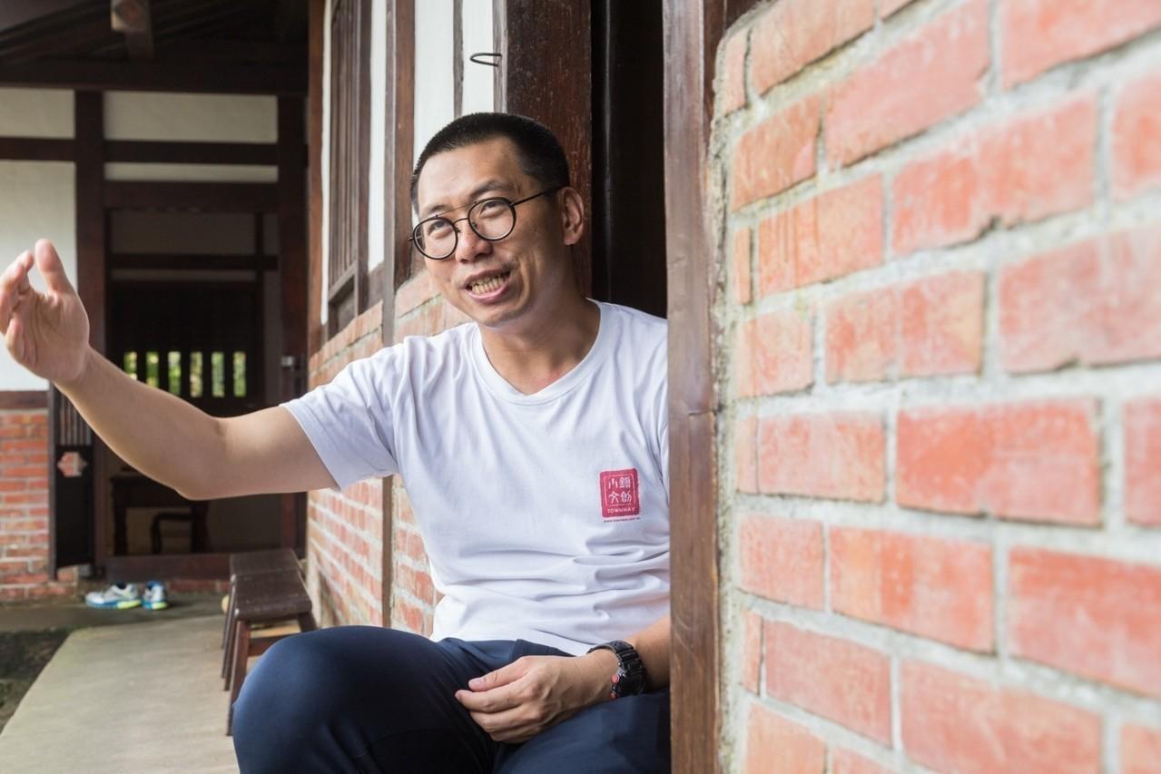 何培鈞如今四處分享竹山經驗。記者陳立凱/攝影