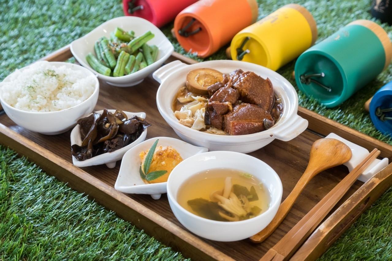 竹青庭的餐飲都是在地食材。記者陳立凱/攝影