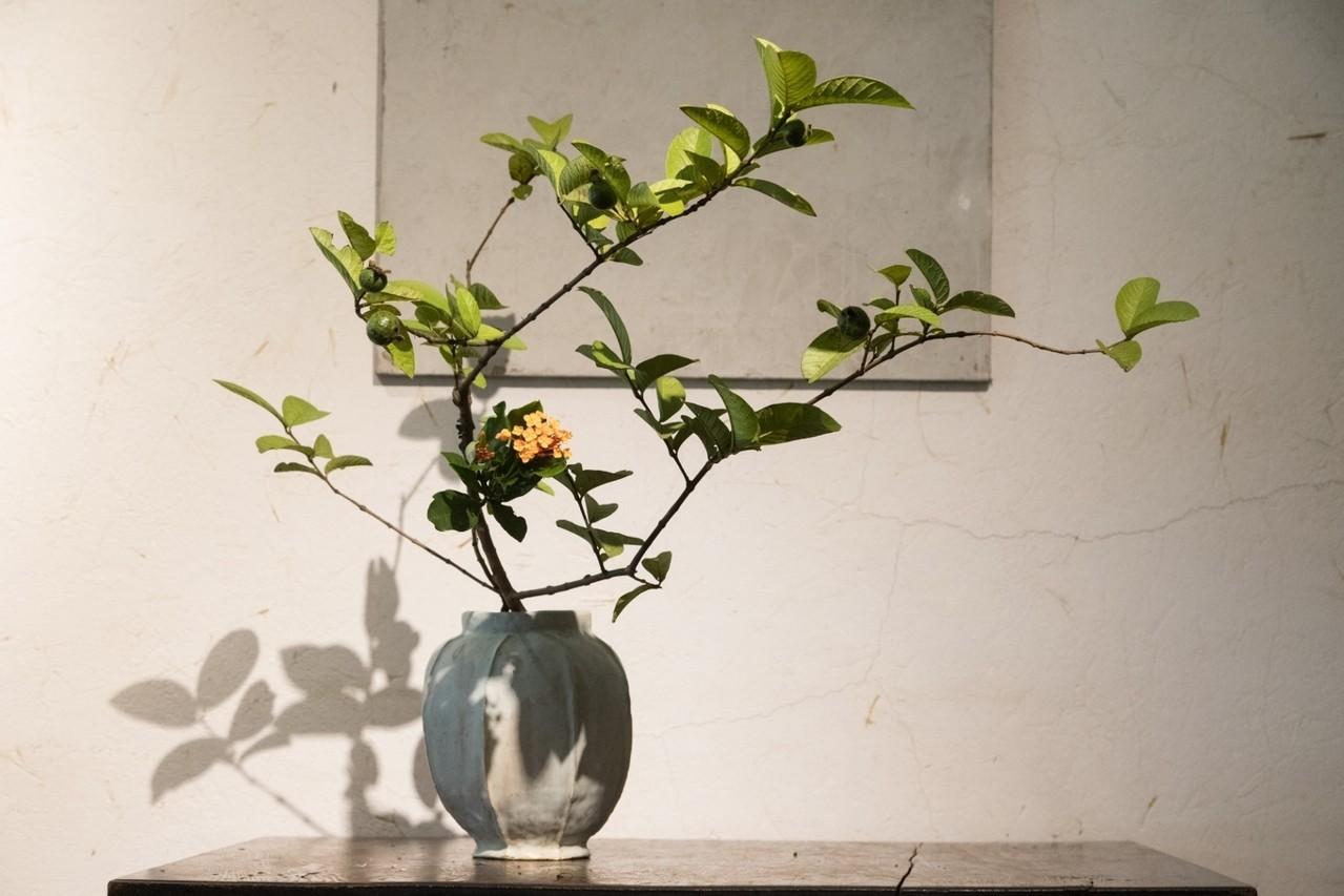 上野雄次透過花道,表現生存帶來的美感。陳立凱/攝影