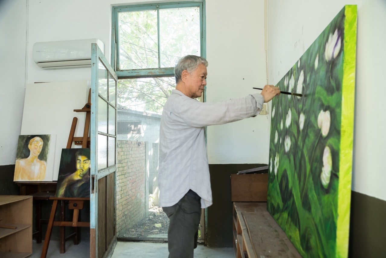 駐村經驗改變了蔣勳的繪畫觀念。圖/陳立凱攝影