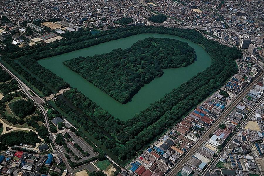 日本仁德天皇皇陵。圖/維基百科