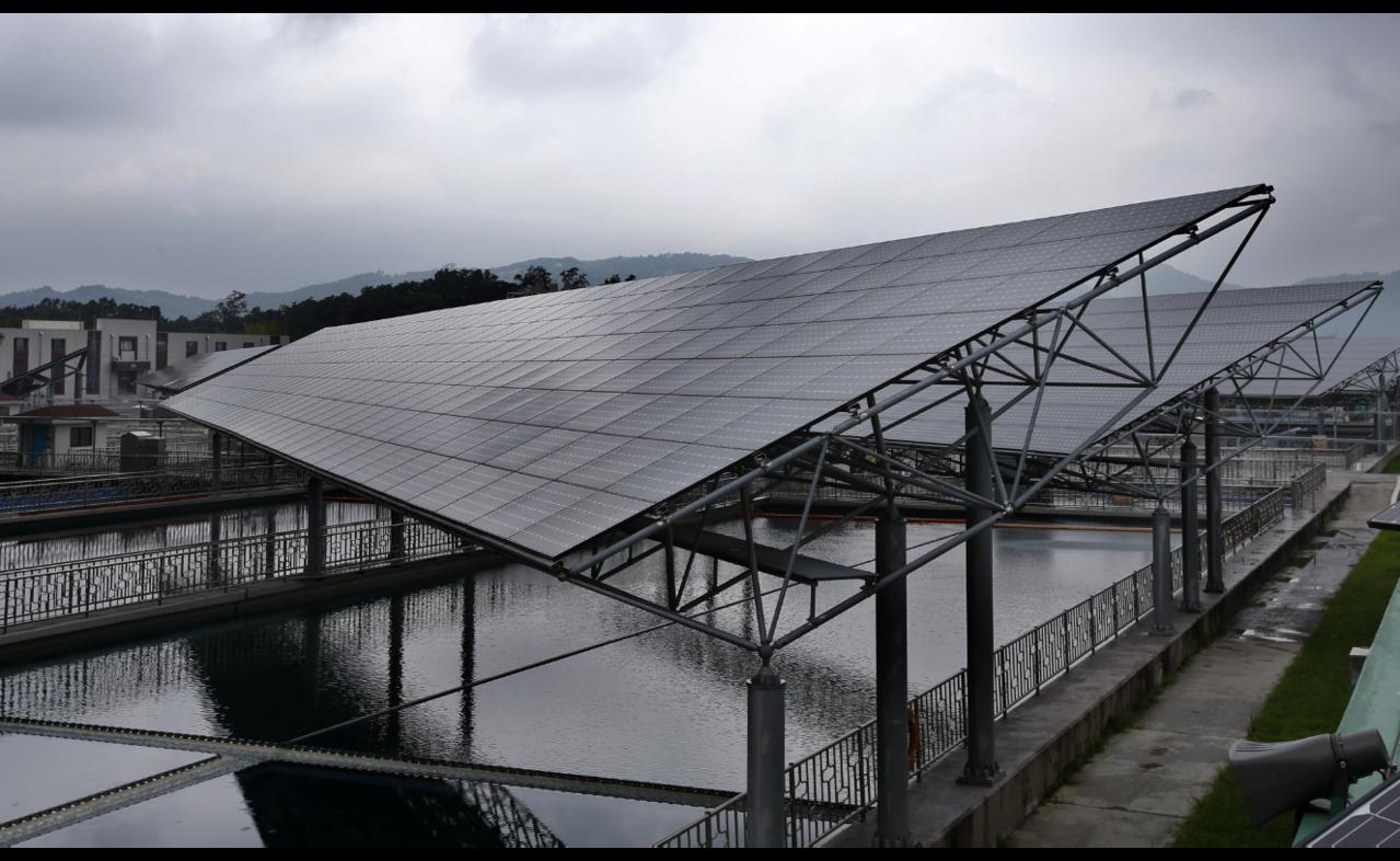 此為座落在首爾近郊Amsa濾水廠的太陽能電廠。