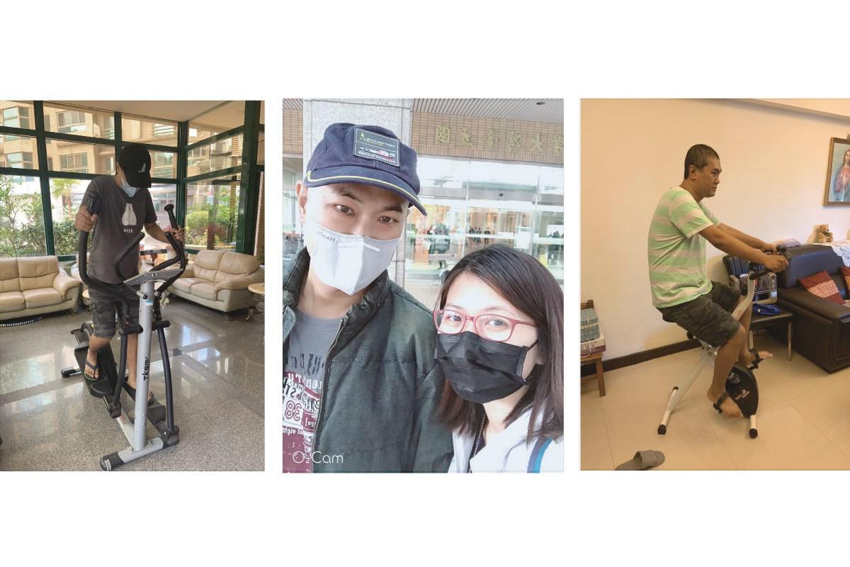 范先生罹患急性骨髓性白血病治療前與後。圖/范先生提供