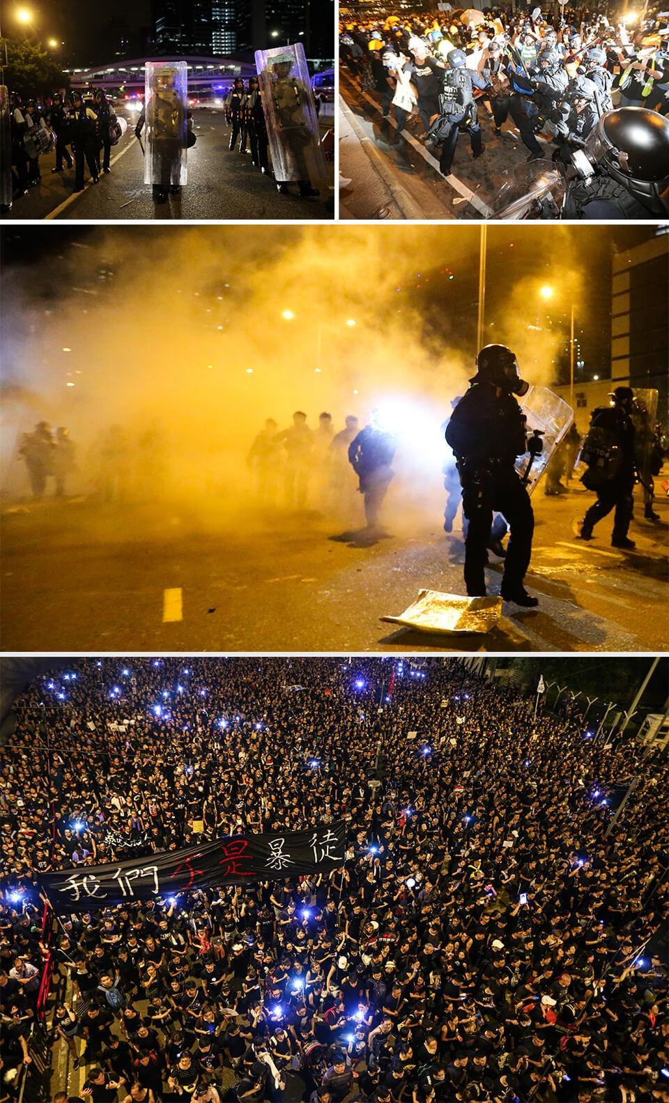 香港反送中運動,警民衝突不斷升級。記者許正宏/攝影
