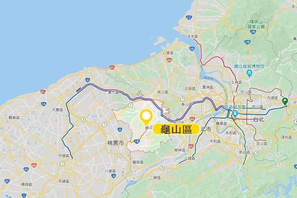 龜山區。圖/Google Map