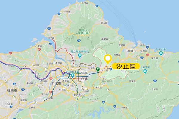 汐止區。圖/Google Map