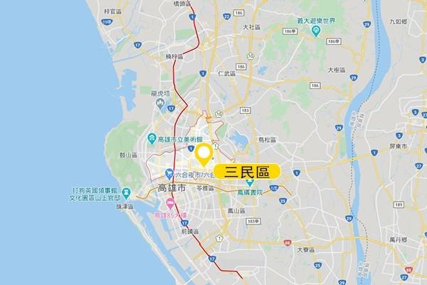 三民區。圖/Google Map