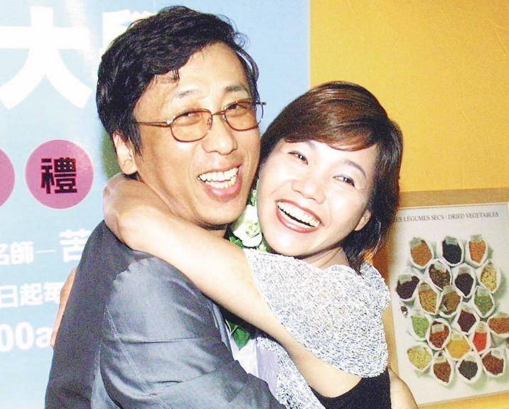 苦苓與前妻蘇玉珍(右)離婚時,曾鬧得滿城風雨。聯合報系資料照