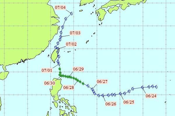敏督利颱風。圖/中央氣象局