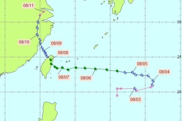莫拉克颱風。圖/中央氣象局