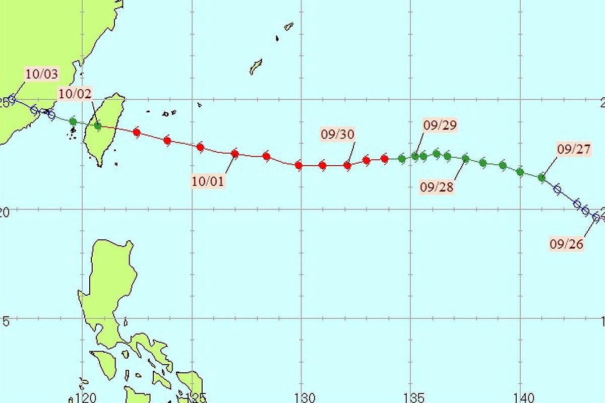 龍王颱風。圖/全球災害事件簿