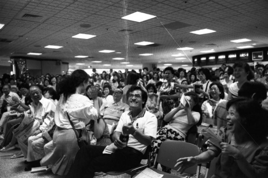 1990年號子人聲鼎沸的景象。圖/聯合報系資料照