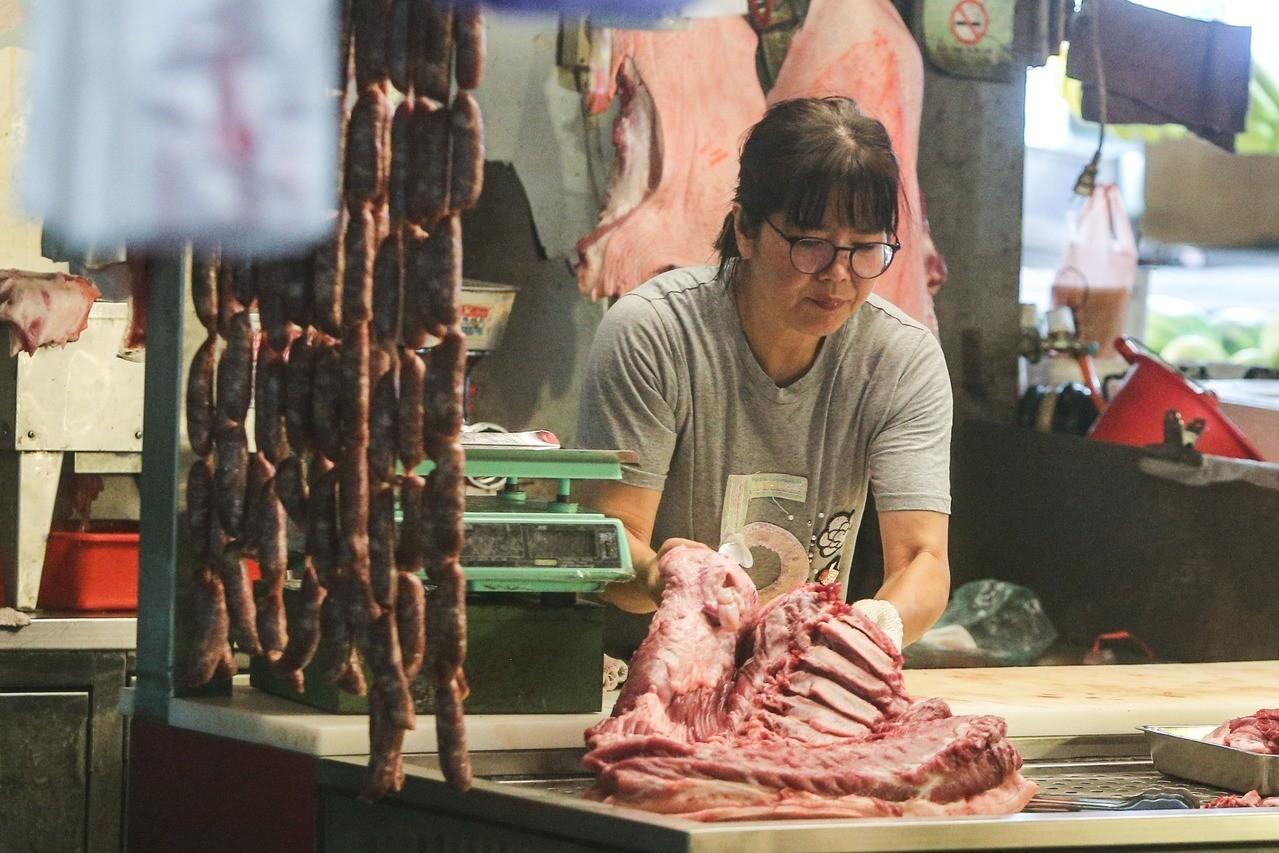 2021年開放萊劑美豬進口,消費者憂心流入傳統市場。記者黃仲裕/攝影