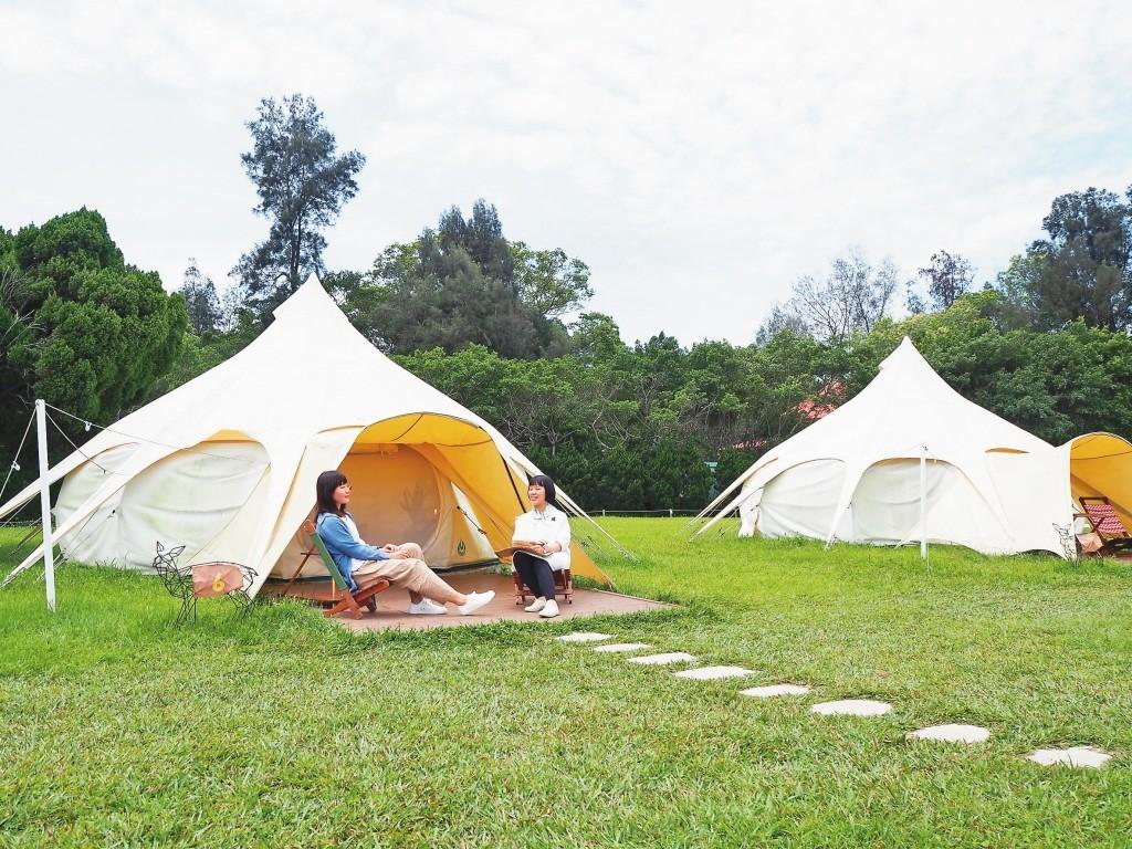 國人露營風氣盛行,是許多民眾熱愛的休閒活動之一。聯合報系資料照片/記者羅建怡攝影