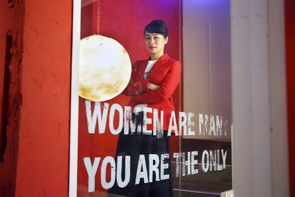 「女人迷」創辦人張瑋軒分享女性在職場上面臨的問題。記者林澔一/攝影