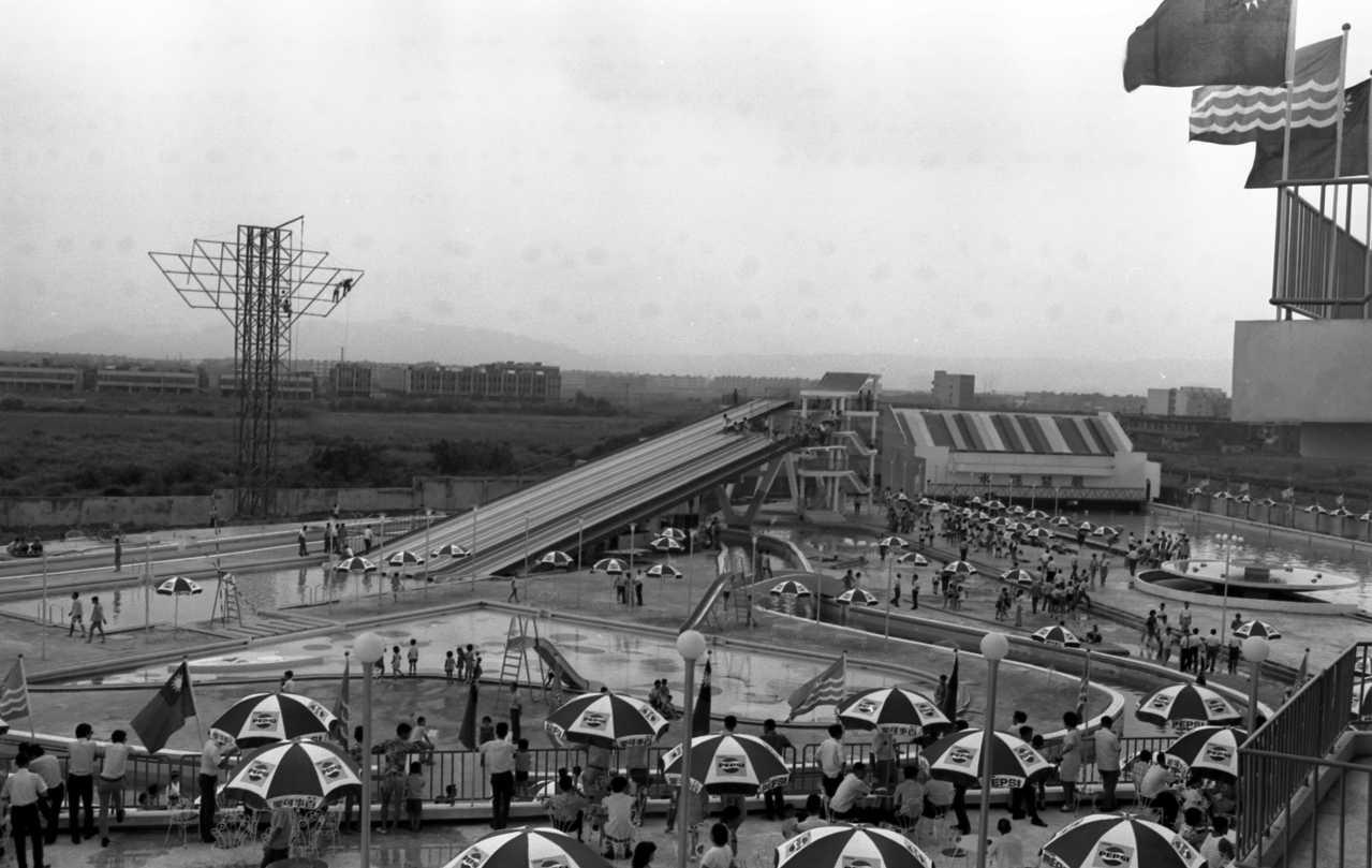 設在台北華江大橋邊江子翠的大同水上樂園,1971年開幕。圖/聯合報系資料照