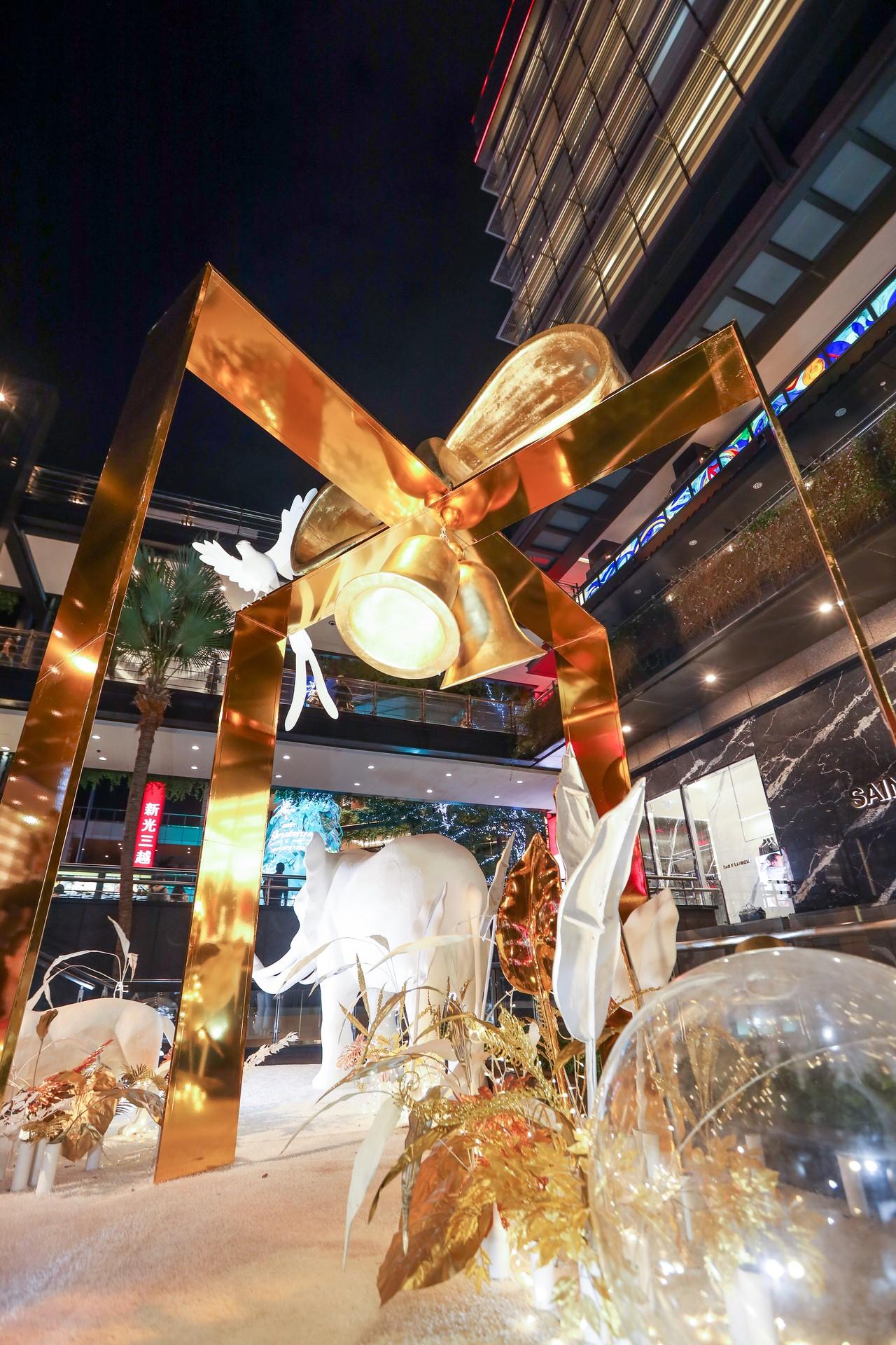 台北信義新天地A9「星願森林」。記者吳致碩/攝影