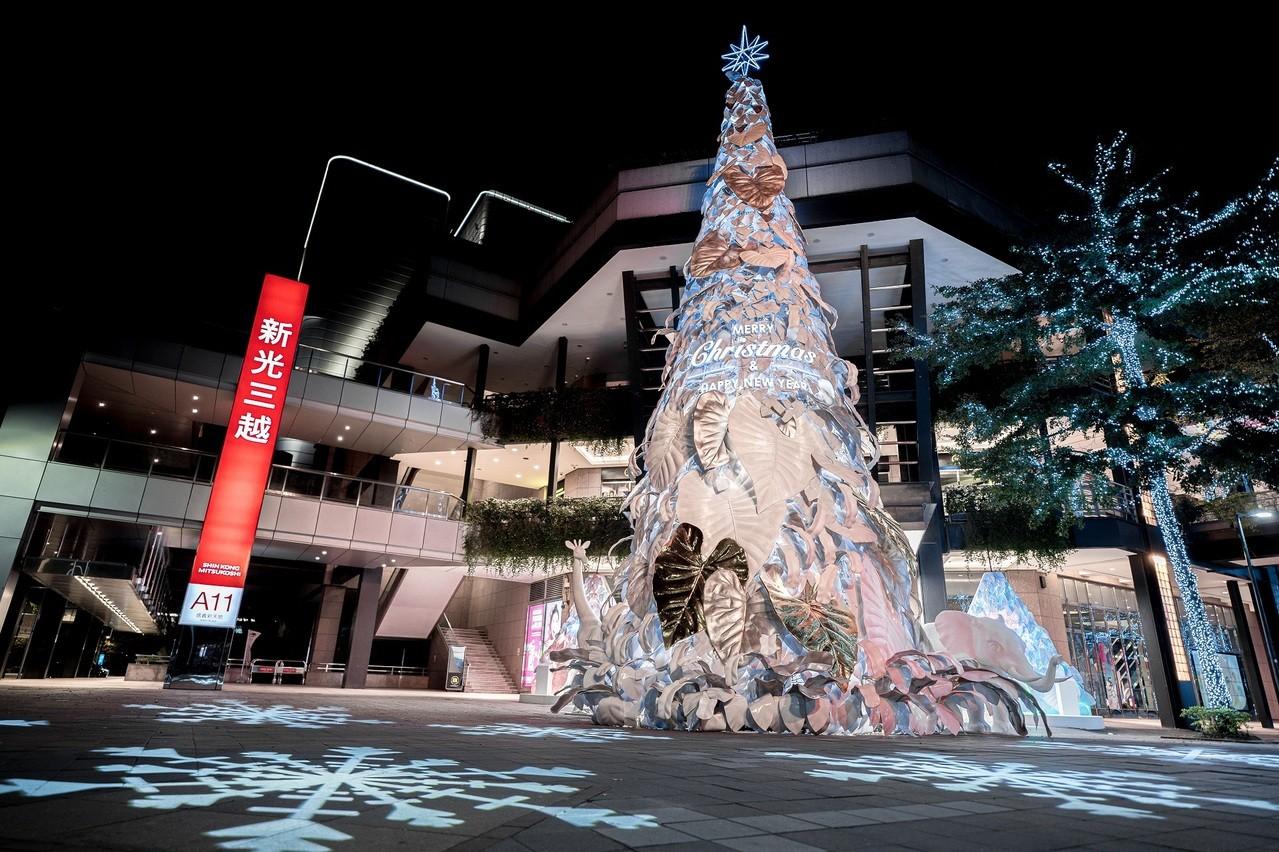 新光三越台北信義新天地「耶誕奇幻森林」。圖/新光三越提供