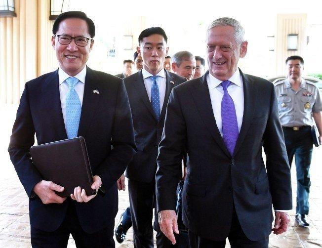 南韓防長:4月前公佈韓美聯合軍演的時間