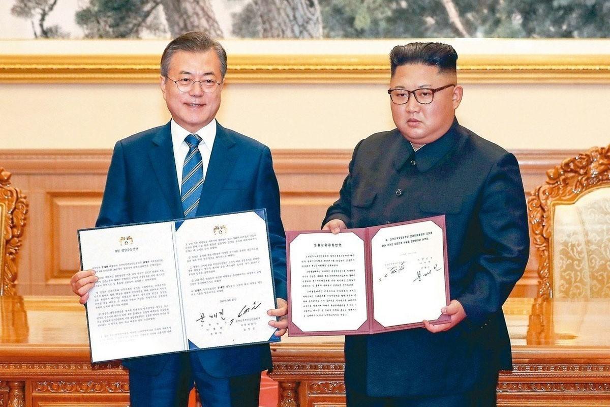 文金三會兩韓簽《平壤宣言》 結束敵對關係