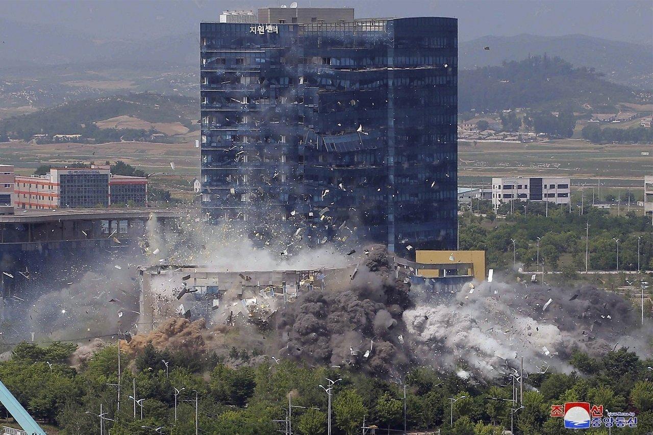 金與正痛批南韓 炸毀兩韓聯合辦公室